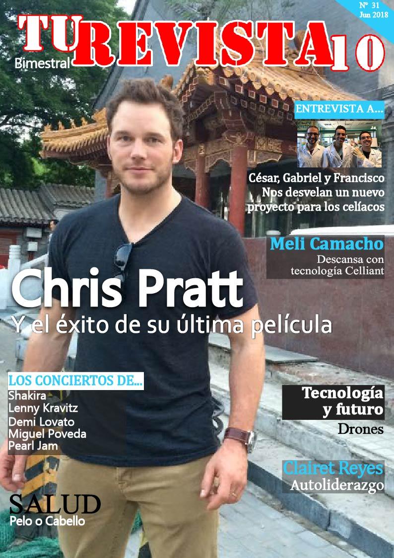 Chris Pratt y el éxito en el estreno de la película Jurassic World: El Reino Caído.