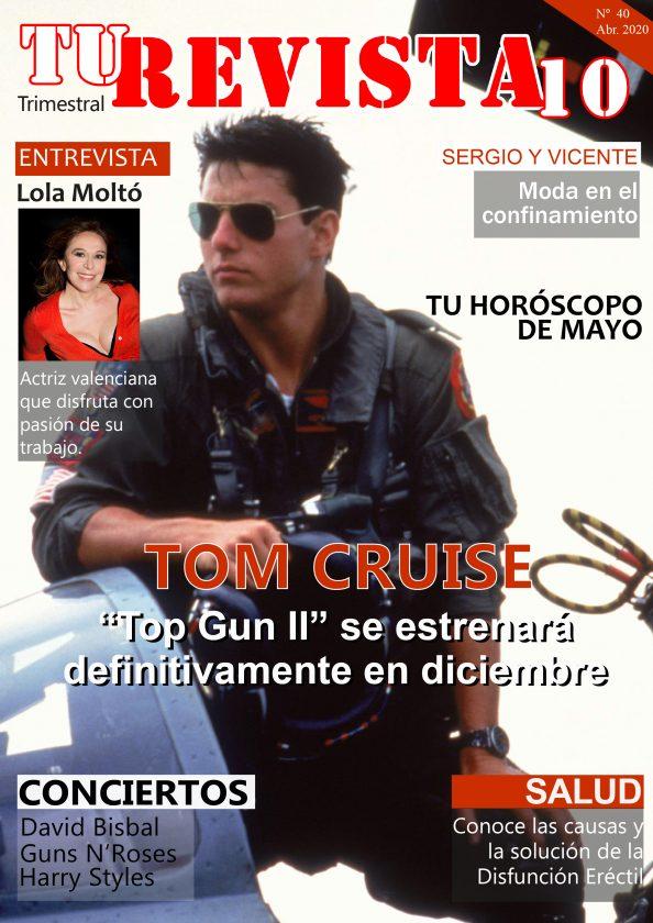 "Tom Cruise ""Top GunII se estrenará en diciembre"""